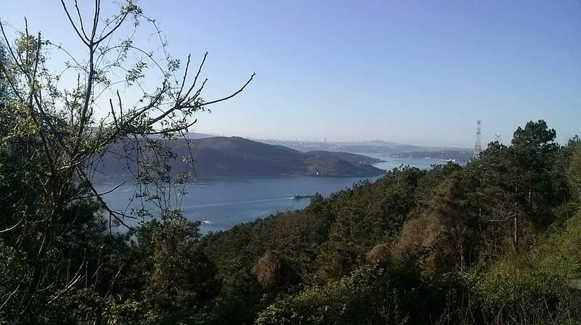 The Bosphorus from Rumeli Lighthouse road