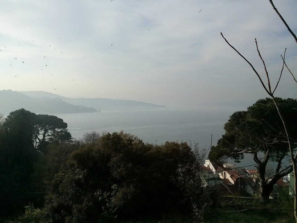 A bike ride in Istanbul: A view of Bosphorus