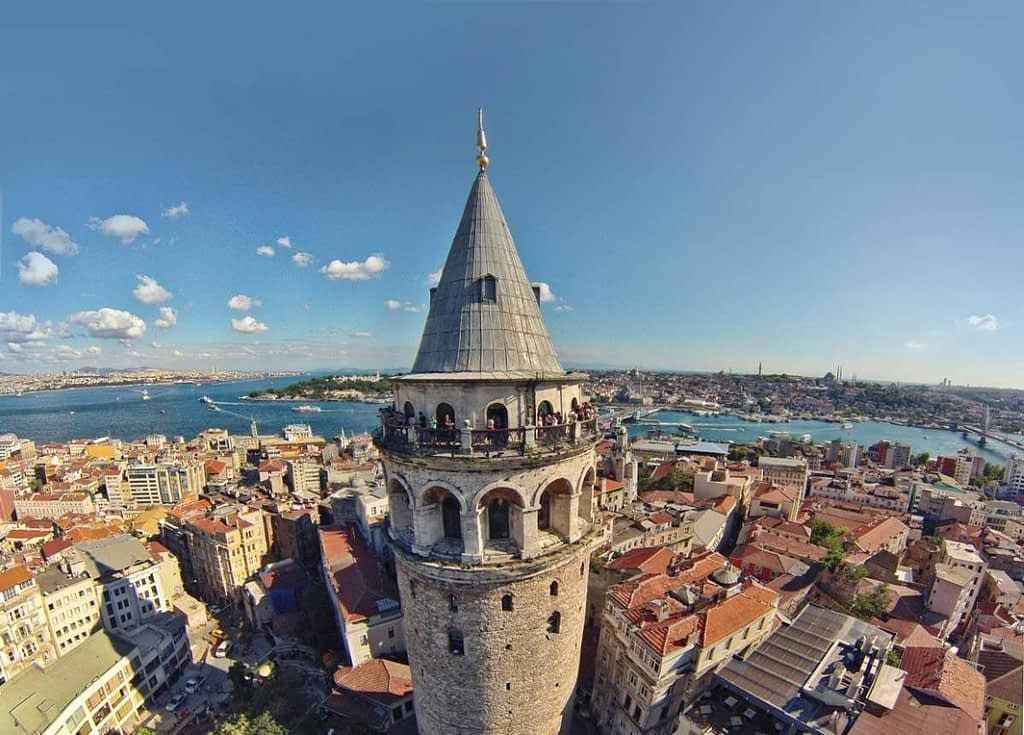 View atop Galata Tower